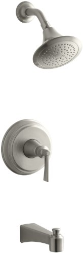 Kohler K-T11077-4-BN Archer Bath and Shower Faucet Trim (Vibrant Brushed Nickel)