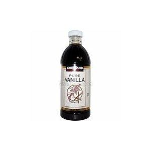 Pure Vanilla Extract Kirkland Signature Brand 16 ounce bottle