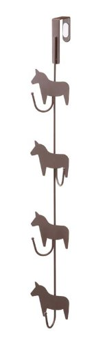 Brown Metal Horse Door Hanger for Bags, Clothes and Accessories, Home Decor