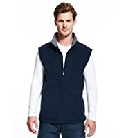 Blue Harbour Quilted Patch Fleece Gilet with StayNEW™