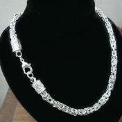 New Down Dragon Head Chain Necklace 925 Sterling Silver 20 In.
