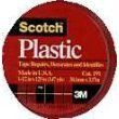 """3M Scotch 191 Colored Plastic Tape, 125"""" Length x 1-1/2"""" Width, Red (Pack of 6)"""