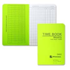 Time Book, Pocket Size, Weekly/2 Page, 6-3/4\
