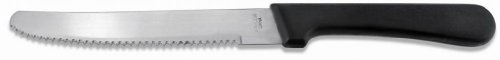 New Star Foodservice 58994 Stainless Steel Steak Knife, 4.5-Inch Rounded Serrated Blade with Plastic Handle, Set of 12