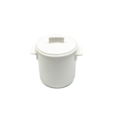 Maxwell And Williams Basics Relish Pot With Lid, 4-Ounce, White