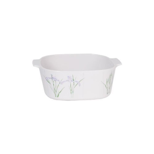 Corningware Shadow Iris Vintage Square Casserole 1 1/2 L back-626366
