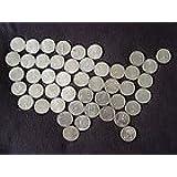 1999-2008 D Complete UNC State Quarter 50 Coins Set