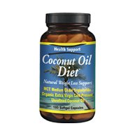 Health Support Coconut Oil Diet Softgel Capsules