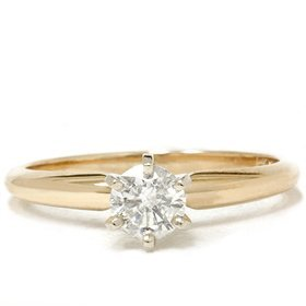 Pompeii3 Inc. .41CT Round Diamond Solitaire Engagement Ring Size:5