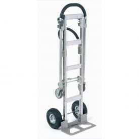 Aluminum 2 In 1 Convertible Hand Truck With Pneumatic Wheels