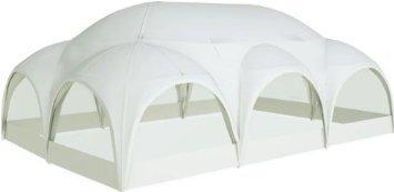 ZELT DESIGN WILLIAM 9x6m weiss rund Pavillon Partyzelt Garten Event Terrasse