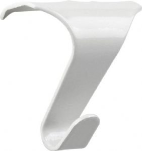 2-x-white-gloss-picture-rail-hooks-strong-metal-hangers-by-swish