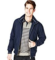 Blue Harbour Funnel Neck Soft Bomber Jacket with Stormwear™