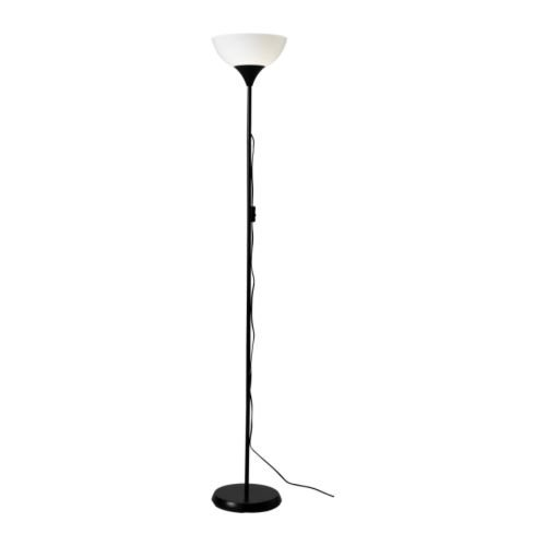Ikea 101.398.79 NOT Floor Uplight Lamp, 69-Inch, Black/White