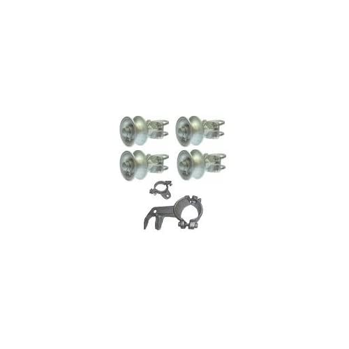 Rolling Cantilever Slide Gate Hardware Set, Chain Link