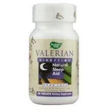 Natures Way Valerian Nighttime Tablet - 50 Per Pack -- 3 Packs Per Case.