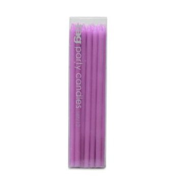 TAG Birthday Party Cupcake / Cake Candles, Set of 12, Lavender Purple