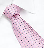 Machine Washable Textured Spotted Tie