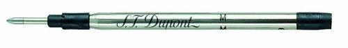 S.T. Dupont Recharge pour stylo bille XL Pointe moyenne Noir Lot de 2