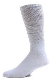 Diabetic Socks, Ultra Light, 12pair, Crew/White