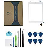 iPad mini 1/ ipad mini 2 Front Glass/Digitizer Touch Panel Full Assembly with IC Chip & Home Button replacement &tool kit White(Step by Step Instruction) (Color: White with tools)