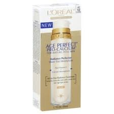 L'Oreal Age Perfect Pro-Calcium Radiance Perfector Sheer Tint Moisturizer, Light, 1.7 Fl. Oz. / 50 mL. (2 boxes)
