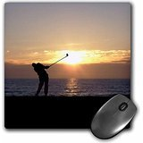 phil-perkins-graphic-design-playing-golf-at-sunset-silhouette-of-golfer-driving-on-18th-hole-mousepa
