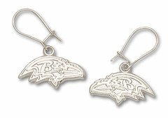 Baltimore Ravens Sterling Silver Dangle Earrings