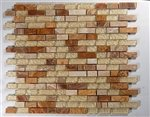 Soho Fusion 1/2 x Random Brick Sedona Red Rocks - 12 x 12 - 18 Rows/Sheet (Fireplace Border compare prices)