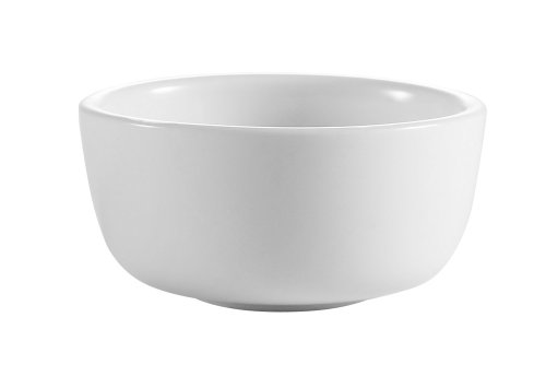Cac China Jb-95-P 9.5-Ounce Porcelain Round Jung Bowl, 4-3/8-Inch, Super White, Box Of 36