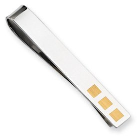 Stainless Steel 24k Gold-plated Tie Bar