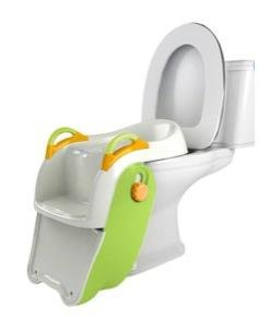 Lovely Reversible Type Dolphin Baby Folding Potty, Yellow Combine Green K1219