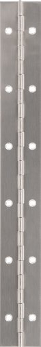 """The Hillman Group 853400 12 X 1-1/2"""" Stainless Steel Continuous Hinge- Surface Mount - Fixed Pin 1-Pack front-84654"""