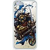iPhone 4 Case, iPhone 4s Case, Hot Sale Teenage Mutant Ninja Turtles Leonardo Soft Rubber White/Black Bumper Case Back Cover Protector Skin For Iphone 4 4s
