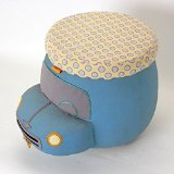 Pullo'man Children's Storage Ottoman, Bella The Car, Turquoise Blue