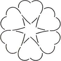 Amazon.com: Quilting Creations Ring of Hearts Quilt Stencil, 8