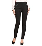 M&S Collection 2 Zip Pocket Treggings