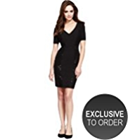 Petite Drop a Dress Size Sequin Panelled Dress with Secret Support™