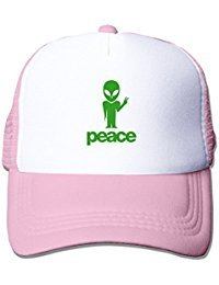 Geek Alien Peace Symbol F1 Male/Female Baseball Cap Mesh Hat Adjustable 100% Nylon By JE9WZ