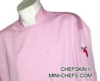 CHEFSKIN CHEF JACKET PINK BEAUTIFUL LIGTHWEIGHT NOLA GOES PINK for S G KOMEN Foundation