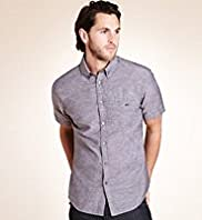 Big & Tall Blue Harbour Linen Blend Lightweight Shirt