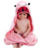 88x88cm Animal Face Hooded Woven Terry Baby Towel (Pink (Beetles)) - 1