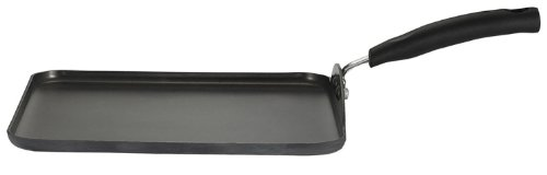 T-fal D91313 Signature Hard Anodized Nonstick Square Griddle Cookware, 10-Inch, Gray