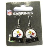 Pittsburgh Steelers Dangle Earrings - Bar Style