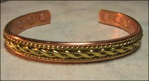 Men's Solid Copper 8 Inch Magnetic Cuff Bracelet #280