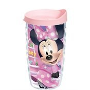 Tervis Wavy Wrap Tumbler With Pink Lid, 10-Ounce, Disney Mini Bowtique