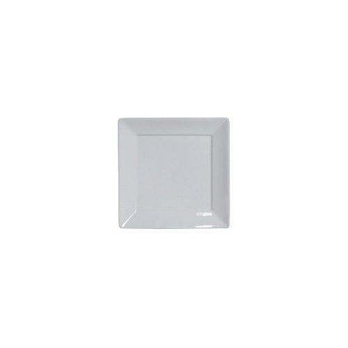 "Tuxton Bph-1016 10.125"" Porcelain White Square Plate - 12 / Cs"
