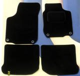 NISSAN NOTE (2006 ON) 1 FIXING CLIPS BLACK TAILORED CAR FLOOR MATS - CUSTOM MADE