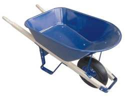 Westward 10G167 Wheelbarrow, Steel Tray w/Flat Free Tire