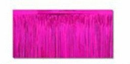 Pkgd 1-Ply FR Metallic Table Skirting (cerise) Party Accessory  (1 count) (1/Pkg)